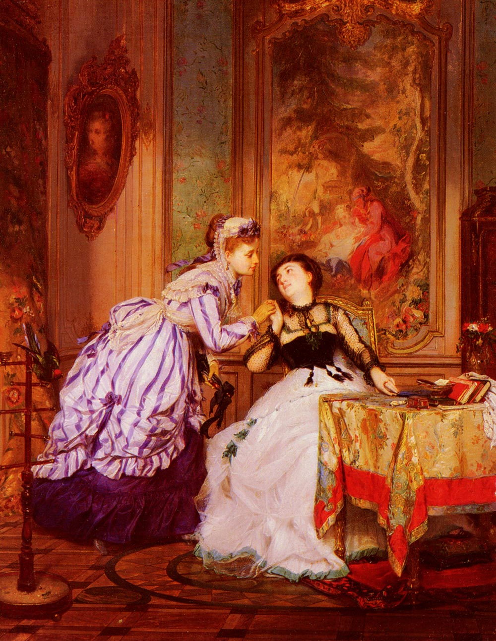A Warm Reception | Charles Edouard Boutibonne | Oil Painting