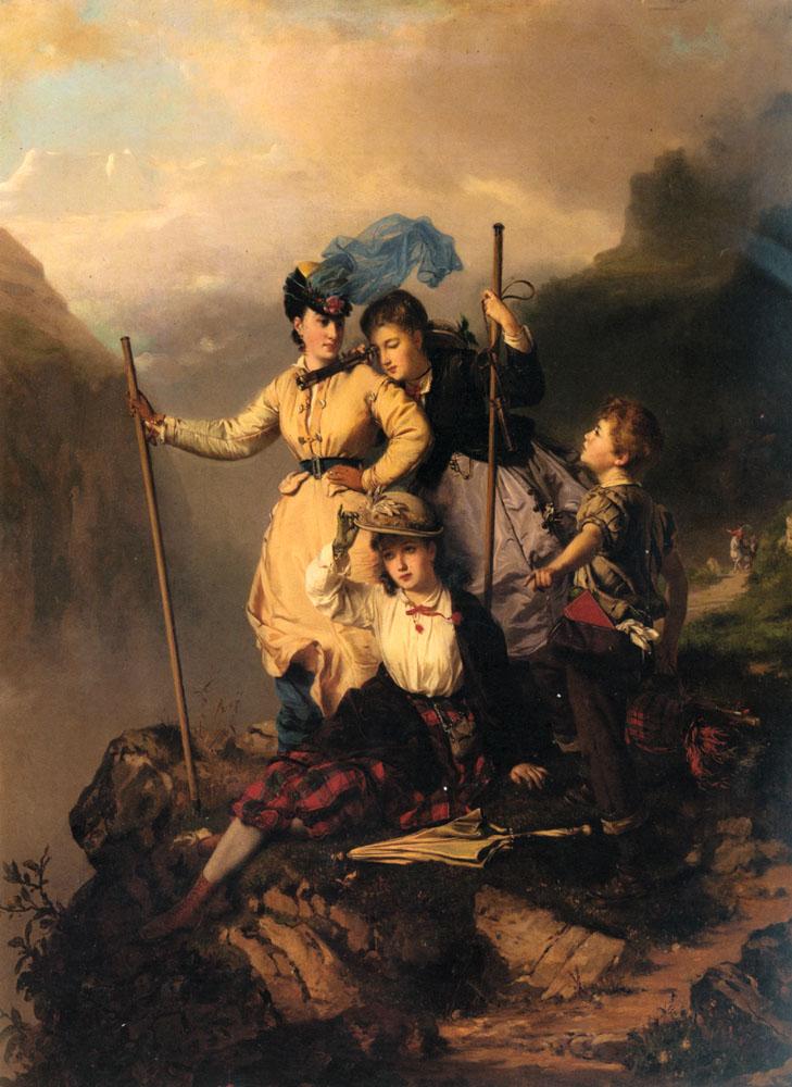 Mountain Climbers | Charles Edouard Boutibonne | Oil Painting
