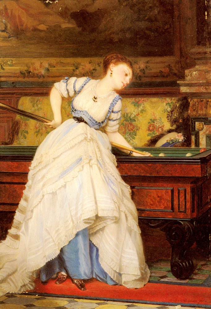 An Elegant Billiard Player | Charles Edouard Boutibonne | Oil Painting