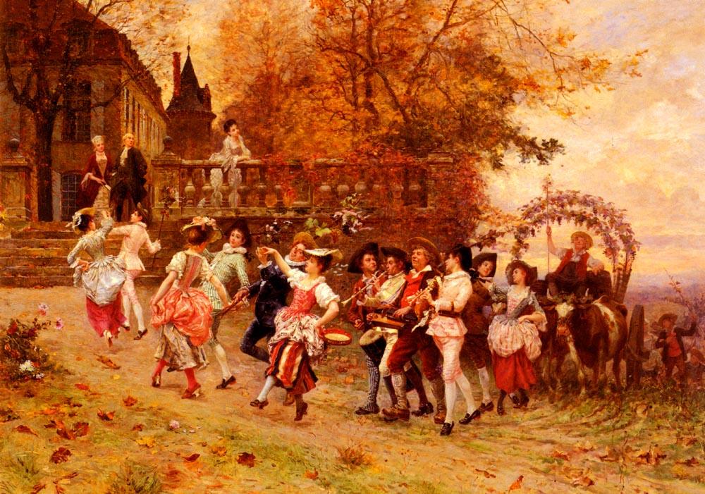La Fete De Vendange | Charles Edouard Edmond Delort | Oil Painting