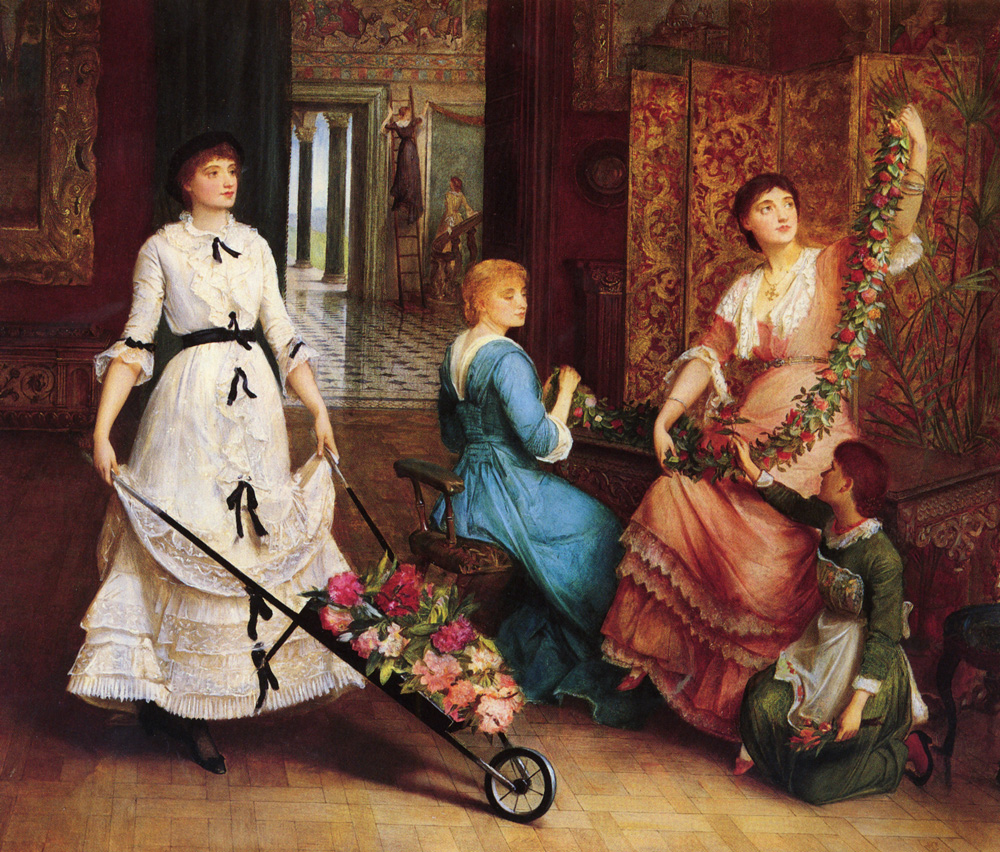 Preparing For The Ball signed with monogram | Charles E Halle | Oil Painting