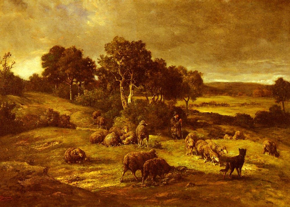 Le Troupeau | Charles Emile Jacque | Oil Painting