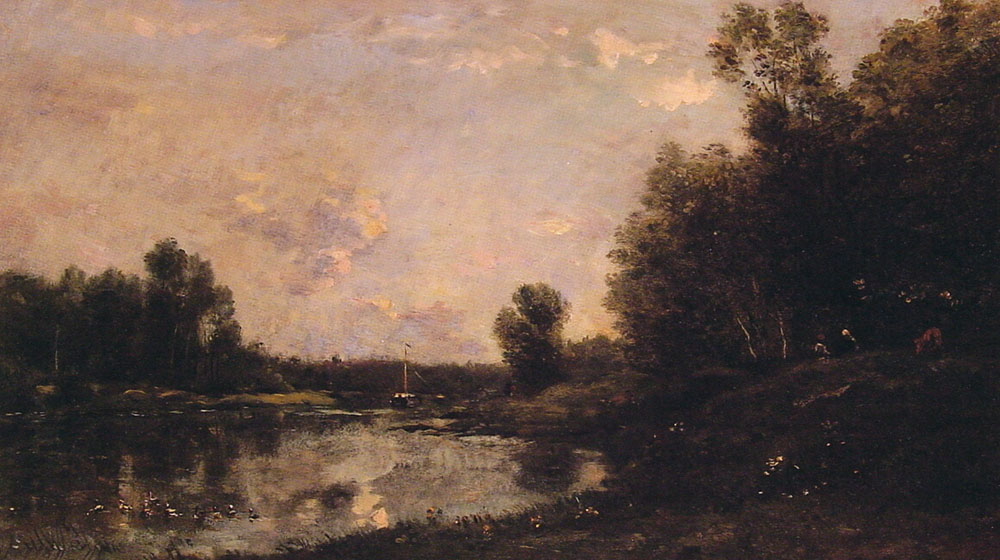 A June Day | Charles Francois Daubigny | Oil Painting