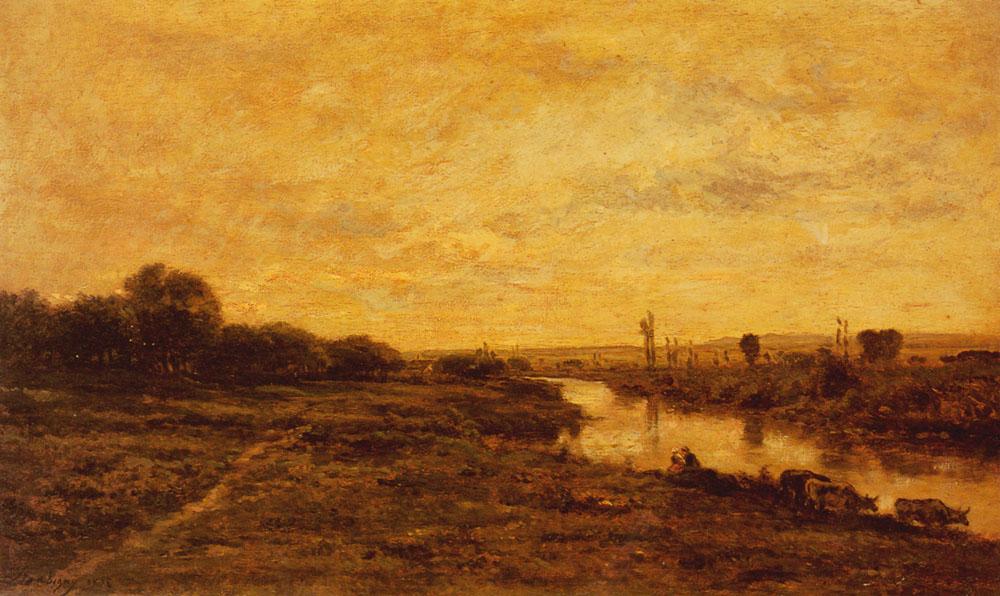 Daubigny Charles Francois La Seine A Conflans | Charles Francois Daubigny | Oil Painting