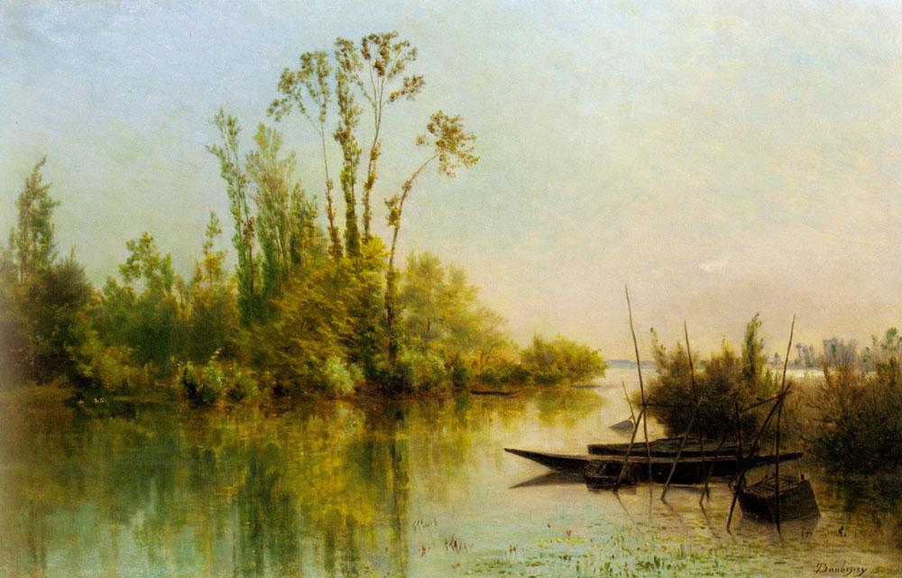 Daubigny Charles Francois Les Iles Vierges A Bezons | Charles Francois Daubigny | Oil Painting
