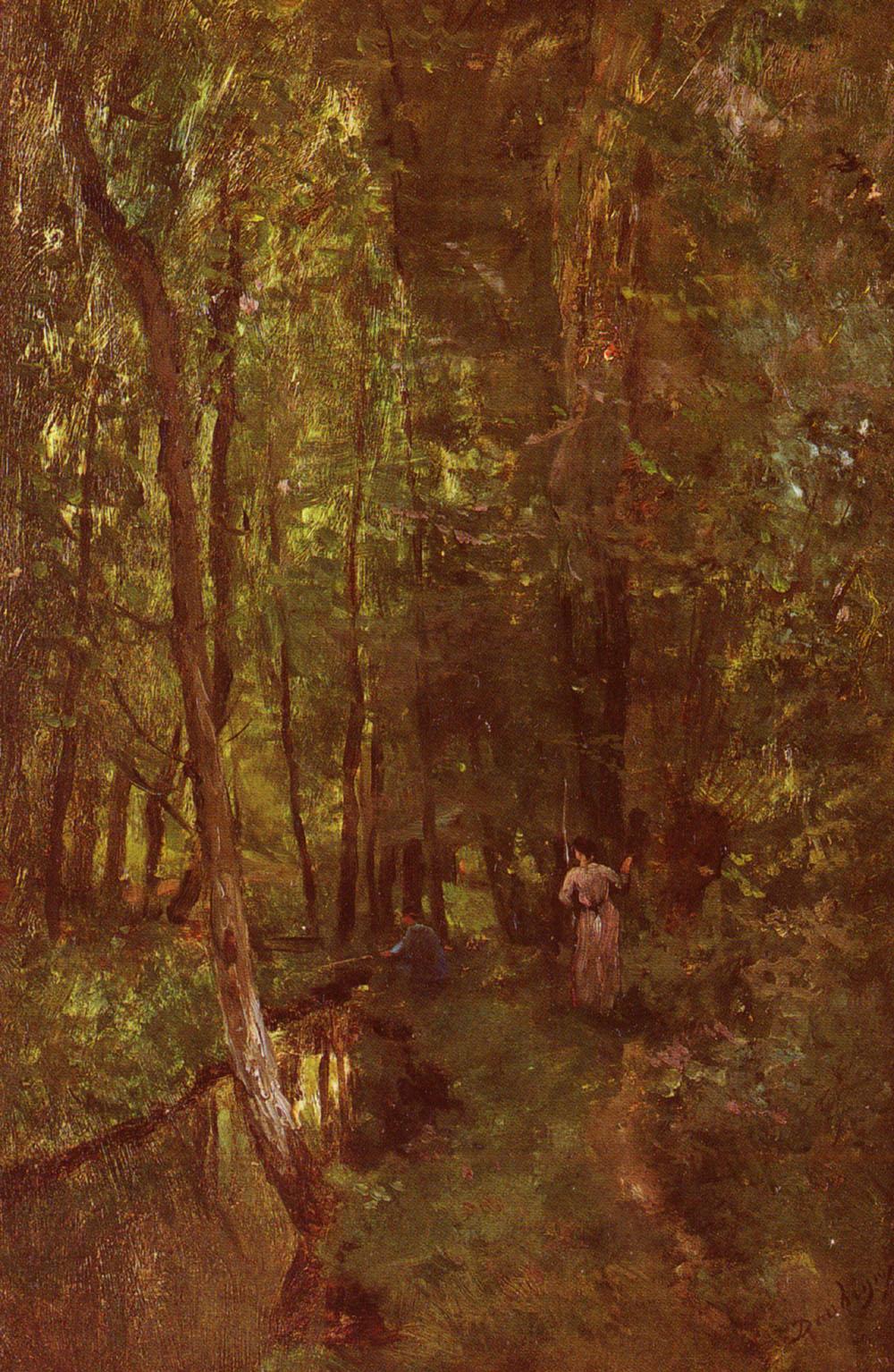 Daubigny Charles Francois Le Ru De Valmondois | Charles Francois Daubigny | Oil Painting