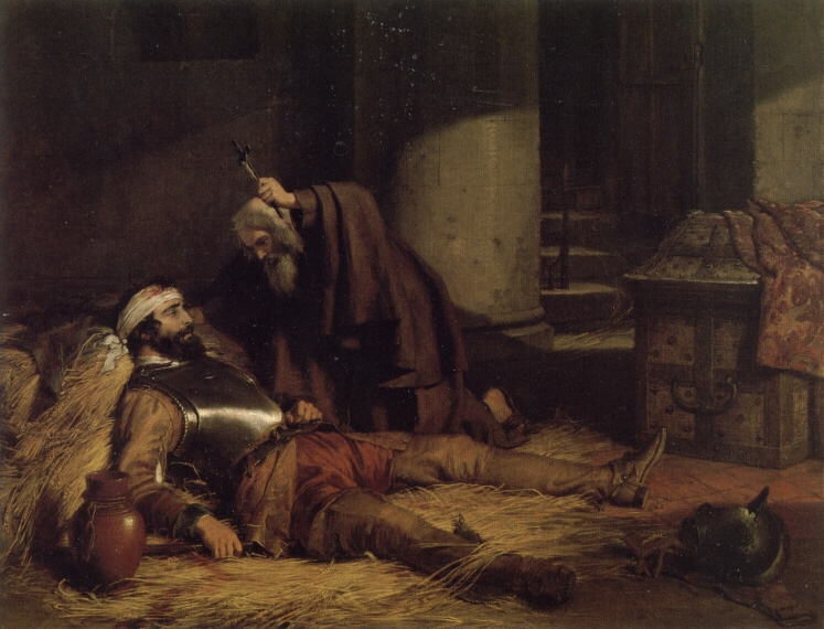 The Dying Warrior c1843 | Charles Landseer | Oil Painting