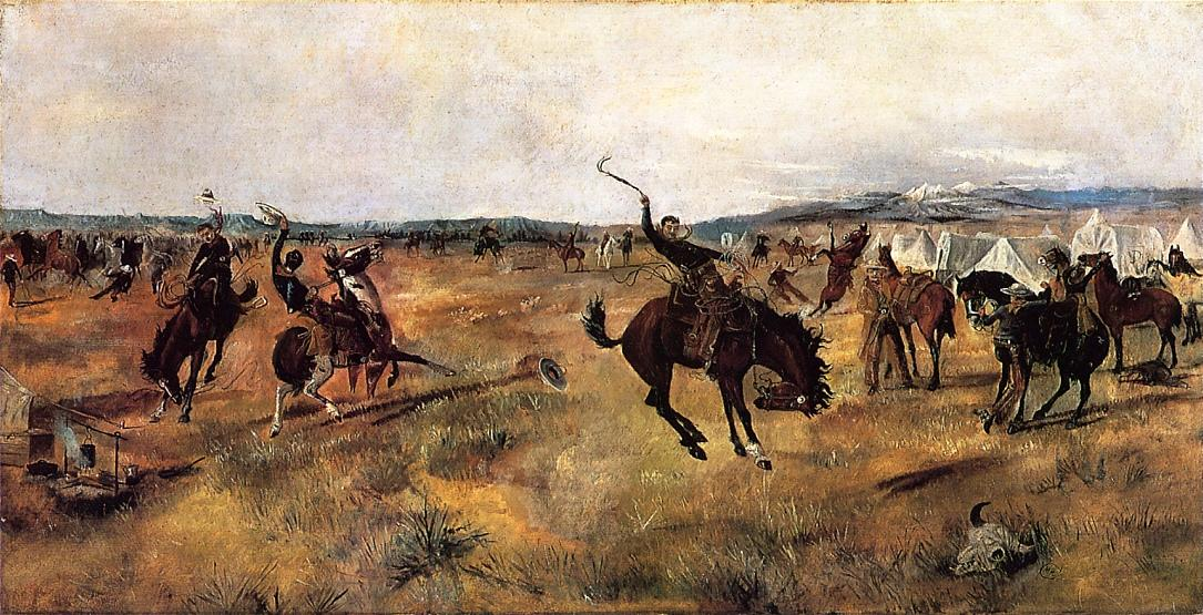 Breaking Camp 1885 | Charles Marion Russell | Oil Painting