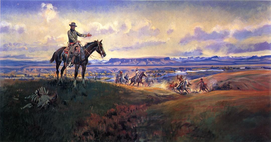 Charles M. Russell and His Friends 1922 | Charles Marion Russell | Oil Painting