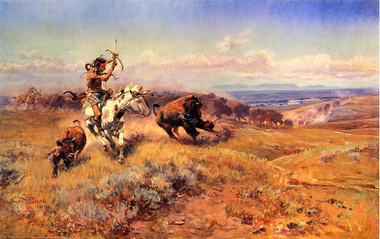 Horse of the Hunter (aka Frech Meat) 1919 | Charles Marion Russell | Oil Painting