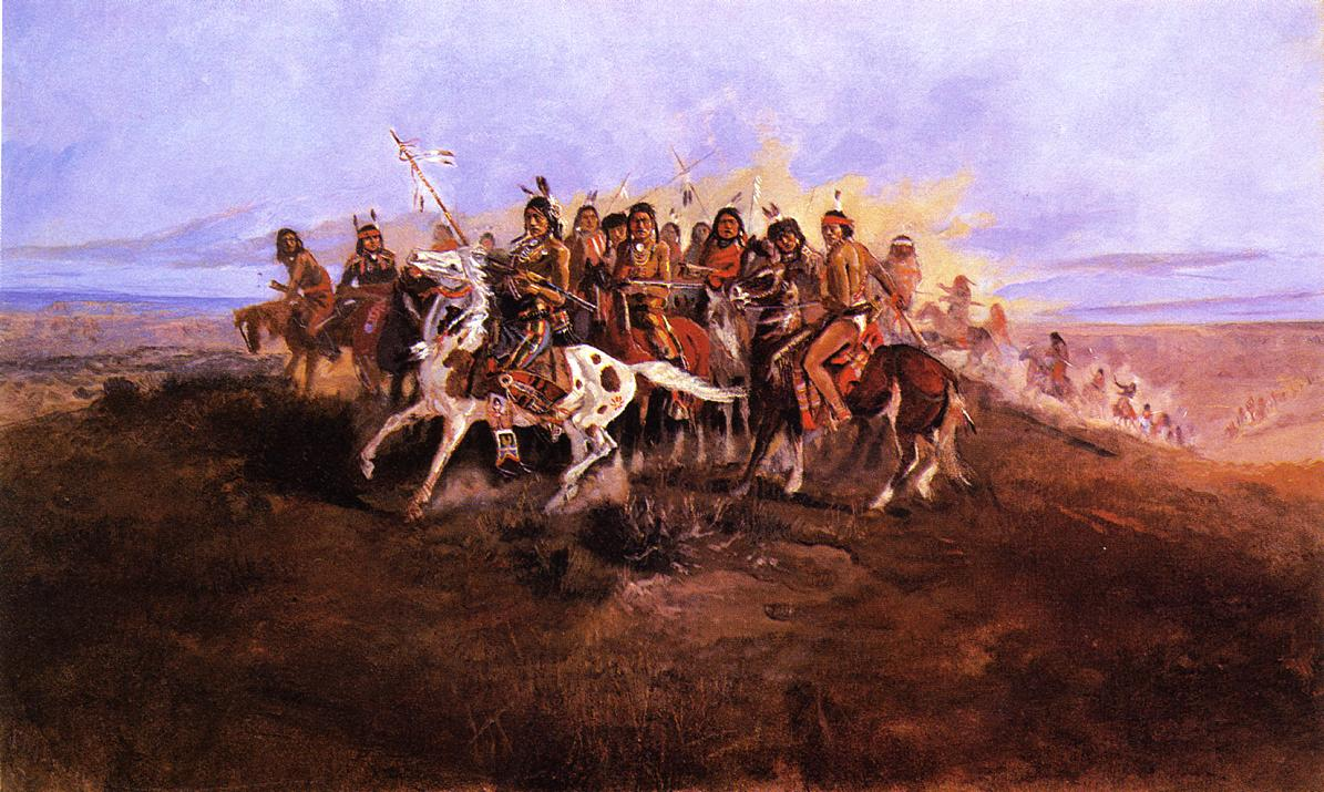 The War Party | Charles Marion Russell | Oil Painting