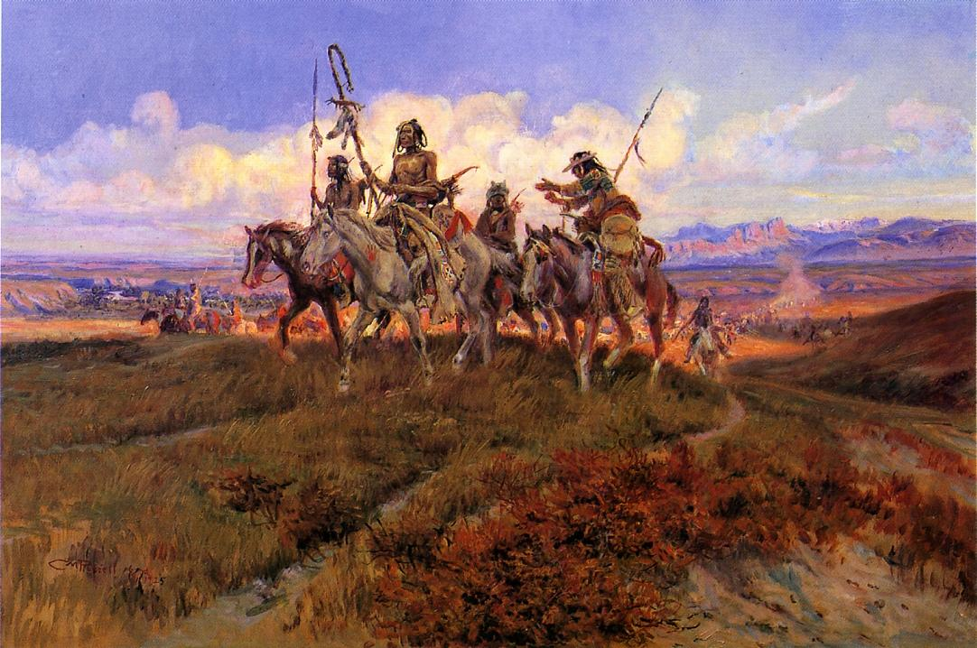 The Wolfmen 1925 | Charles Marion Russell | Oil Painting