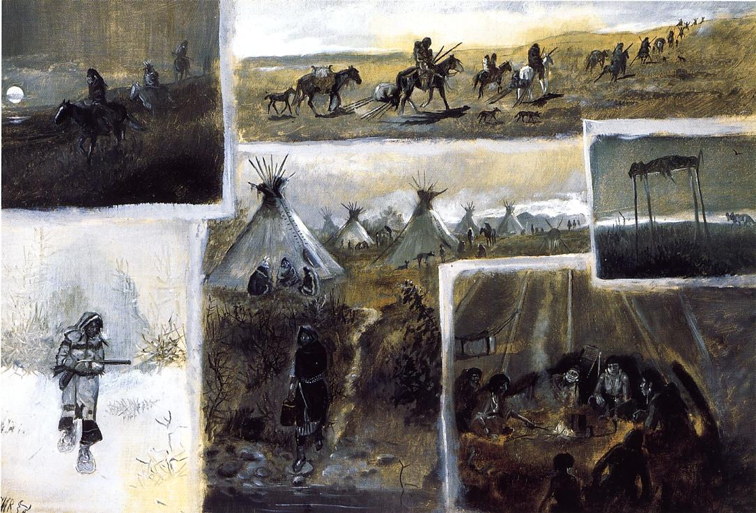 Western Montage 1889 | Charles Marion Russell | Oil Painting