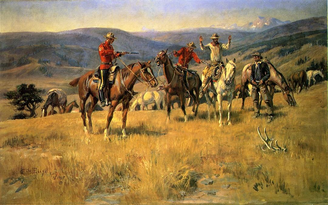 When Law Dulls the Edge of Chance 1915 | Charles Marion Russell | Oil Painting