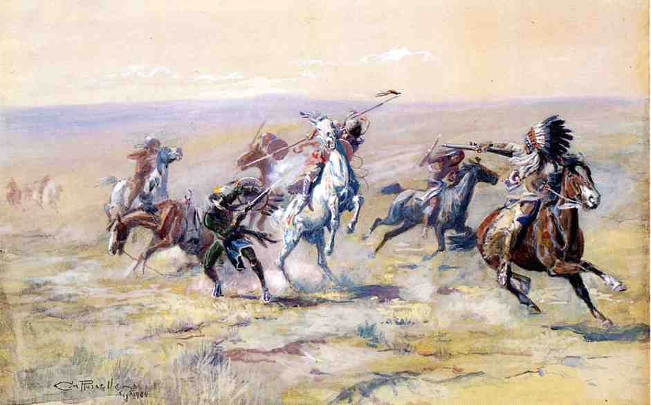 When Sioux and Blackfoot Meet 1904 | Charles Marion Russell | Oil Painting