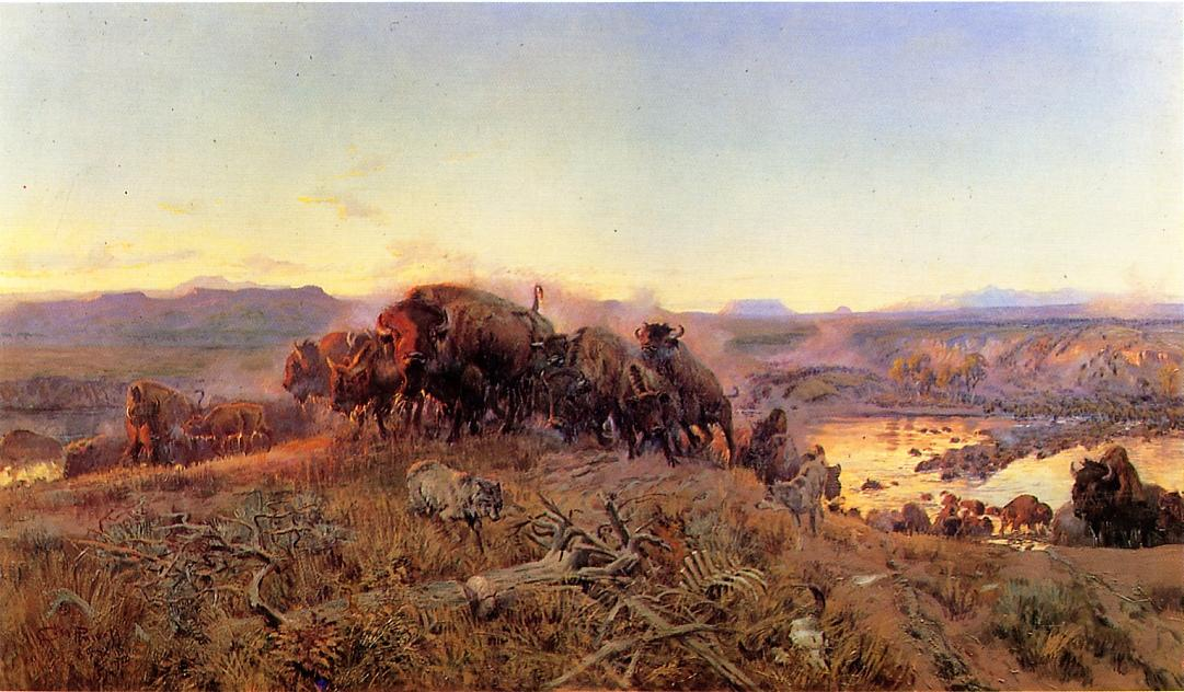 When the Land Belonged to God 1914 | Charles Marion Russell | Oil Painting