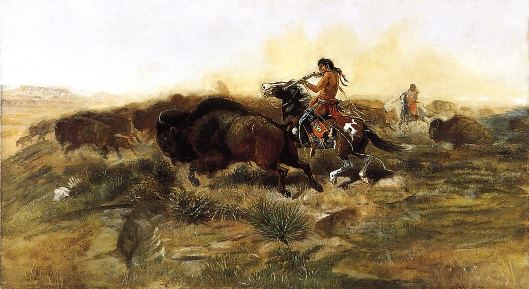 Wild Mead for Wild Men 1890 | Charles Marion Russell | Oil Painting