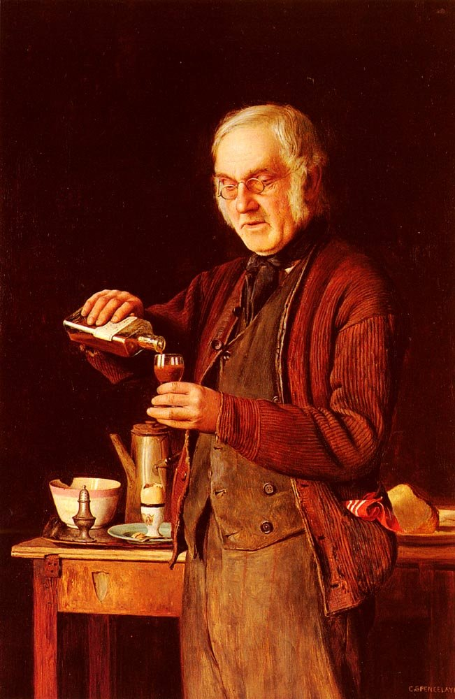 A Good Tonic | Charles Spencelayh | Oil Painting