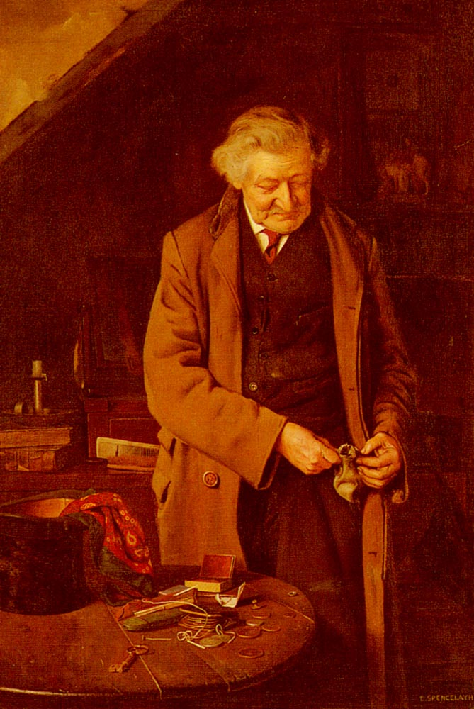 The Cause Of All The Trouble | Charles Spencelayh | Oil Painting