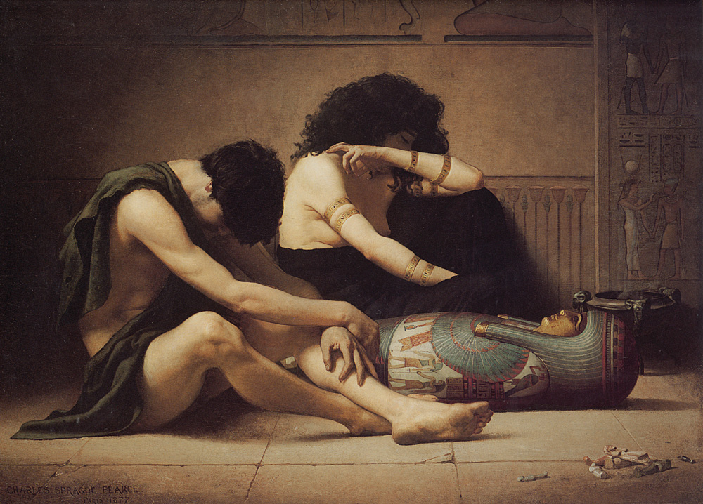 The Death of the First Born | Charles Sprague Pearce | Oil Painting