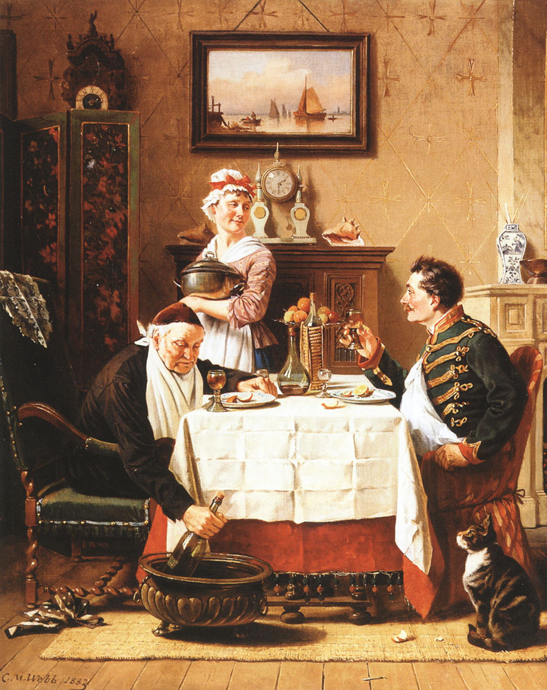 A Satisfying Meal | Charles Webb | Oil Painting