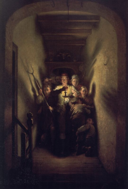 The Night Alarm The Advance | Charles West Cope | Oil Painting