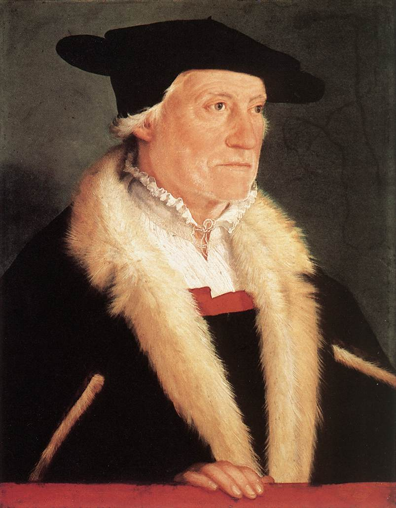 Portrait Of The Cosmographer Sebastien Munster 1552 | Christoph Amberger | Oil Painting