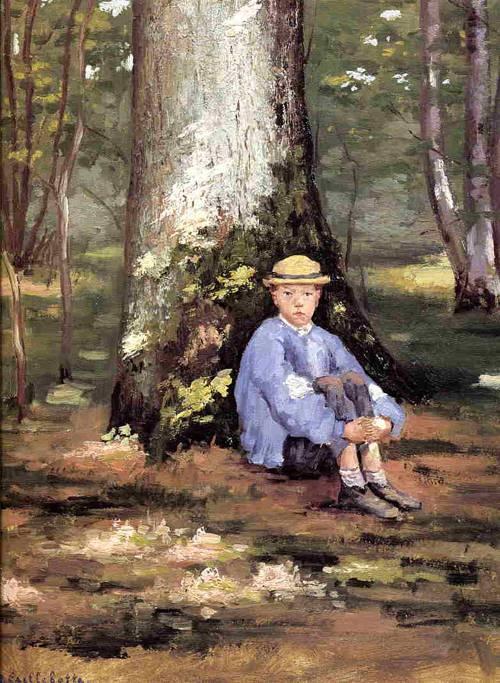 Yerres, Camille Daurelle under an Oak Tree 1871-1878