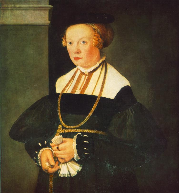 Portrait Of Felicitas Seiler 1537 | Christoph Amberger | Oil Painting