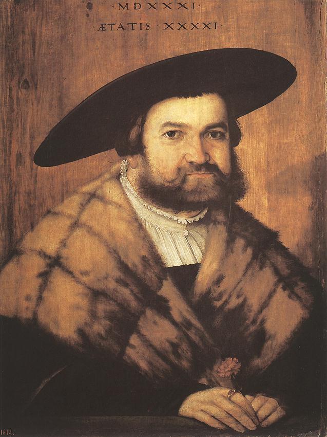Goldsmith Jorg Zurer Of Augsburg 1531 | Christoph Amberger | Oil Painting