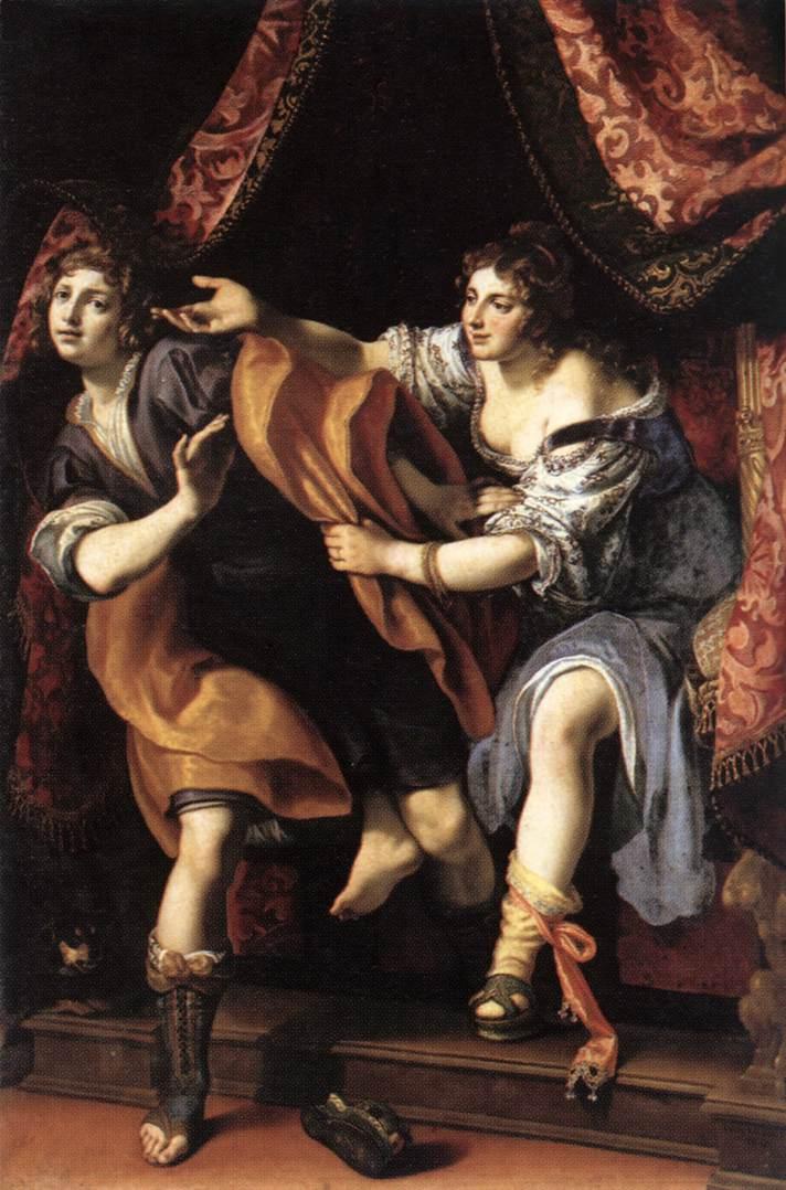 Joseph And Potiphars Wife 1610 | Cigoli | Oil Painting