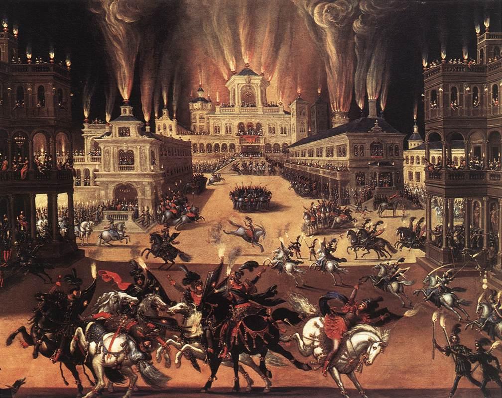 Fire (Detail) 1642 | Claude Deruet | Oil Painting