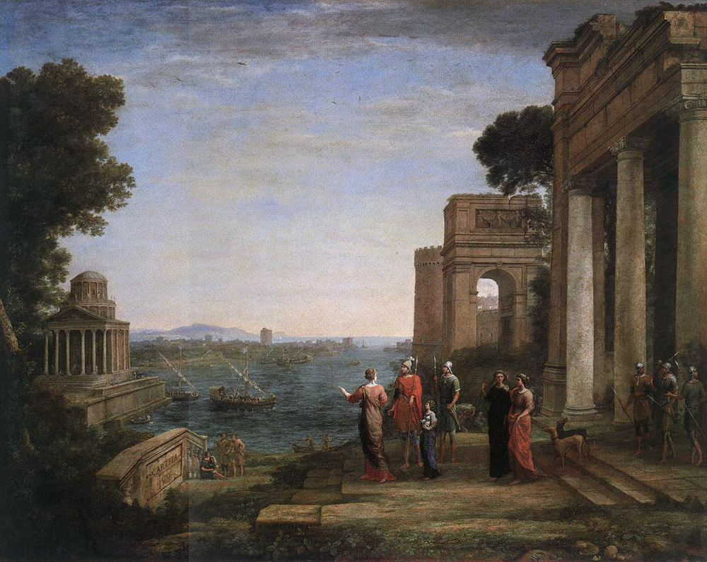 Aeneas Farewell to Dido in Carthago | Claude Lorrain | Oil Painting