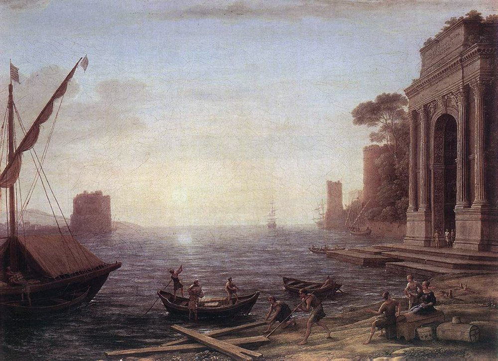 A Seaport at Sunrise | Claude Lorrain | Oil Painting