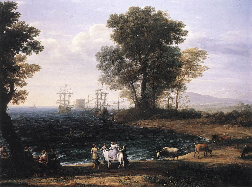 Coast Scene with the Rape of Europa | Claude Lorrain | Oil Painting