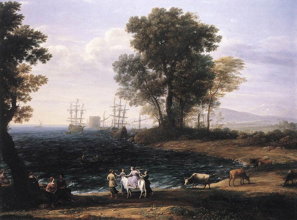 Coast Scene with the Rape of Europa | Claude Lorrain | Oil Painting