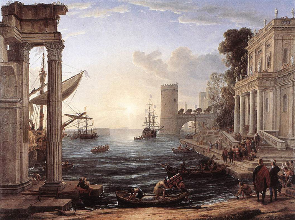 Seaport with the Embarkation of the Queen of Sheba | Claude Lorrain | Oil Painting