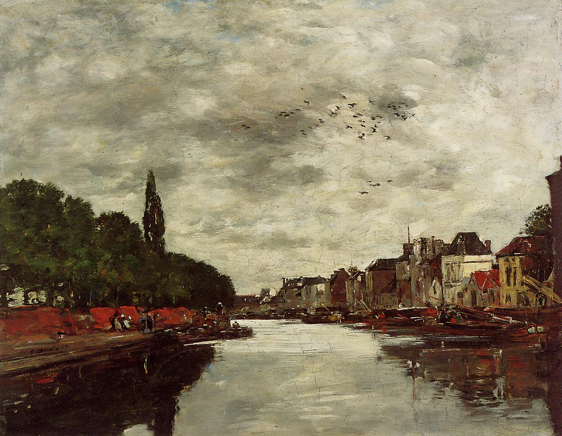 A Canal near Brussels 1871 | Claude Monet | Oil Painting