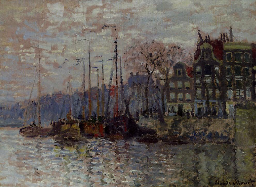 Amsterdam 1874 | Claude Monet | Oil Painting