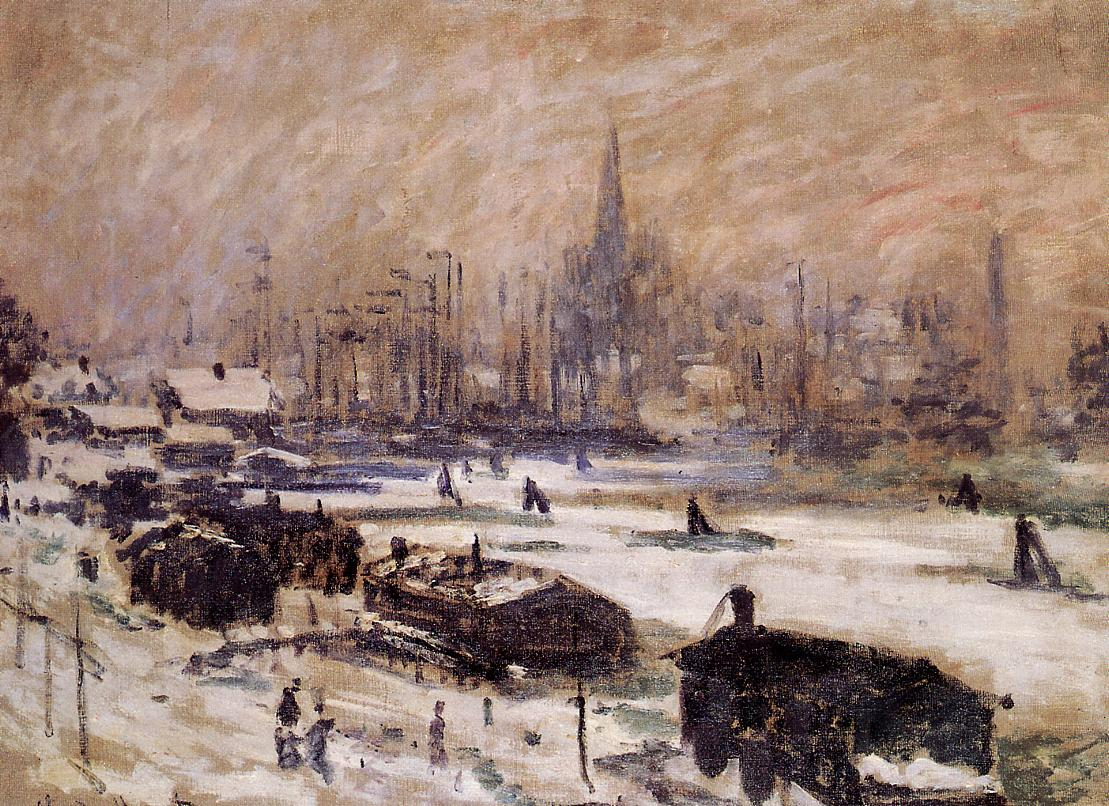 Amsterdam in the Snow 1874 | Claude Monet | Oil Painting