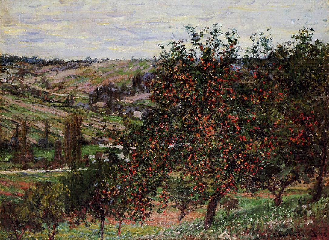 Apple Trees near Vetheuil 1878 | Claude Monet | Oil Painting