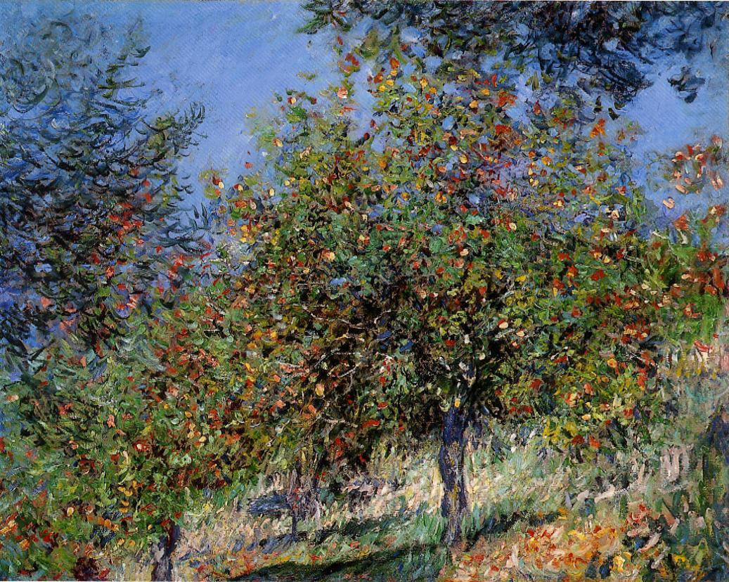 Apple Trees on the Chantemesle Hill 1878 | Claude Monet | Oil Painting