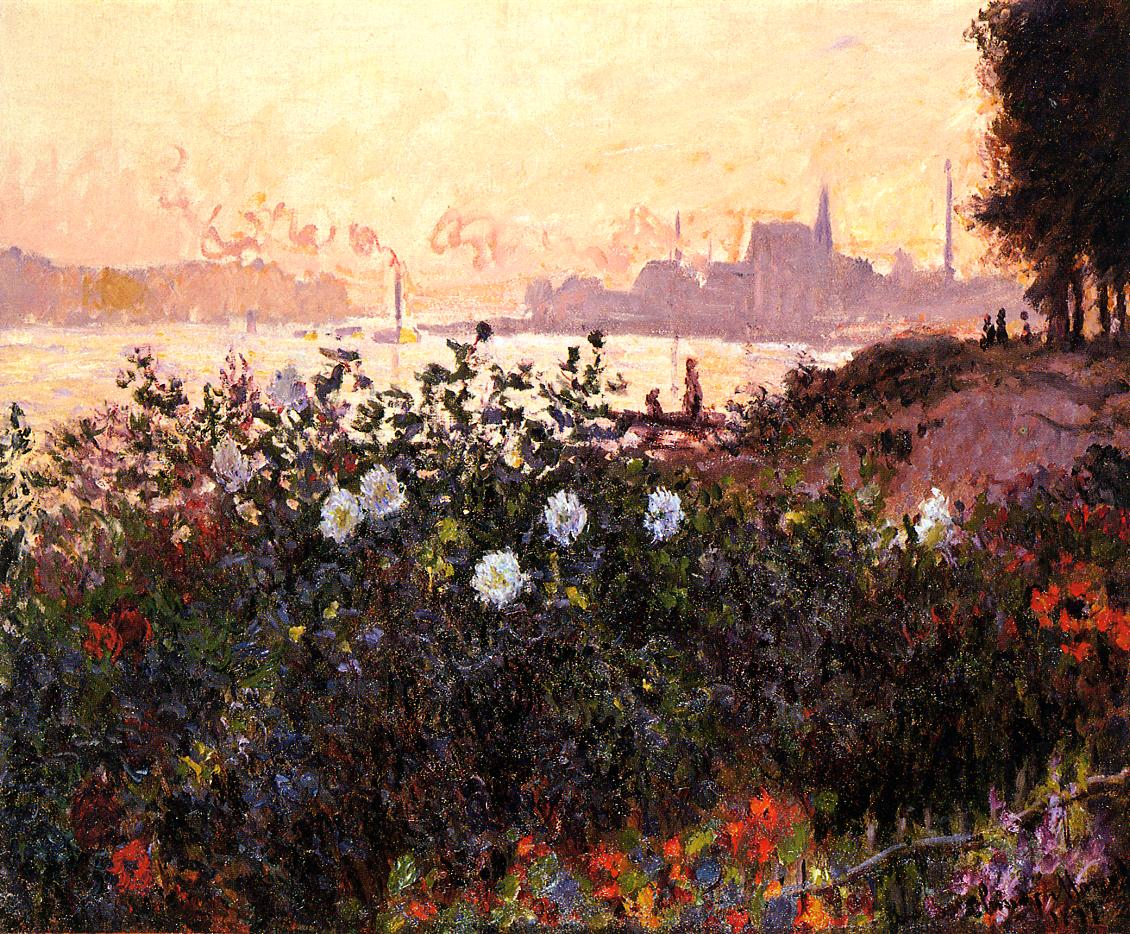 Argenteuil Flowers by the Riverbank 1877 | Claude Monet | Oil Painting