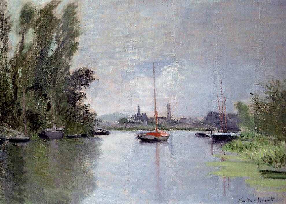 Argenteuil Seen from the Small Arm of the Seine1 1872 | Claude Monet | Oil Painting