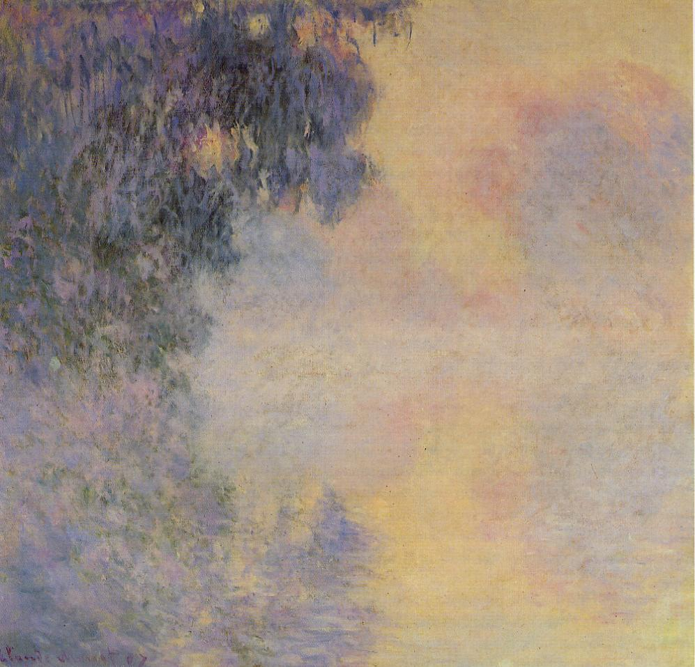 Arm of the Seine near Giverny in the Fog1 1897 | Claude Monet | Oil Painting