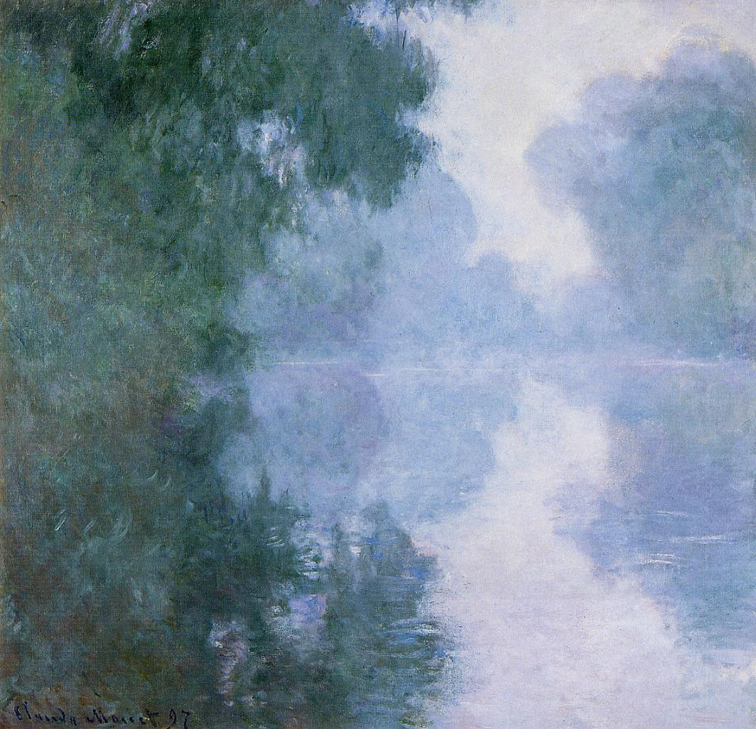 Arm of the Seine near Giverny in the Fog2 1897 | Claude Monet | Oil Painting