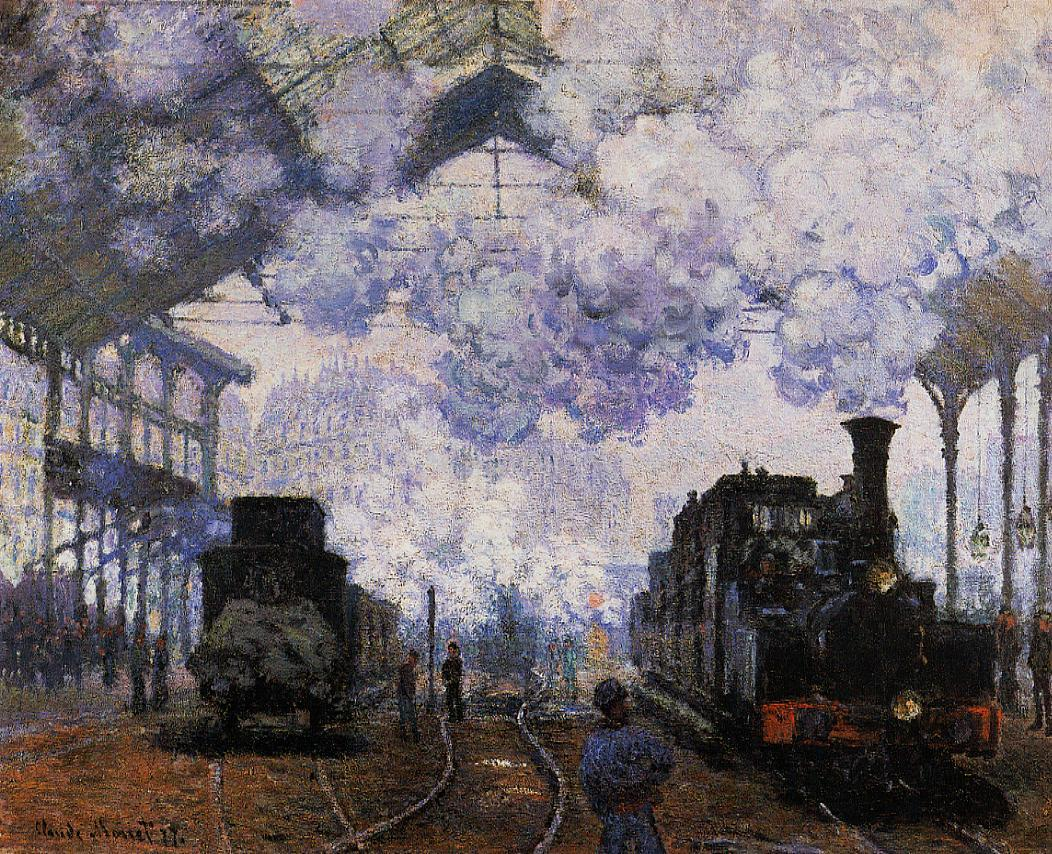 Arrival at Saint-Lazare Station 1876 | Claude Monet | Oil Painting