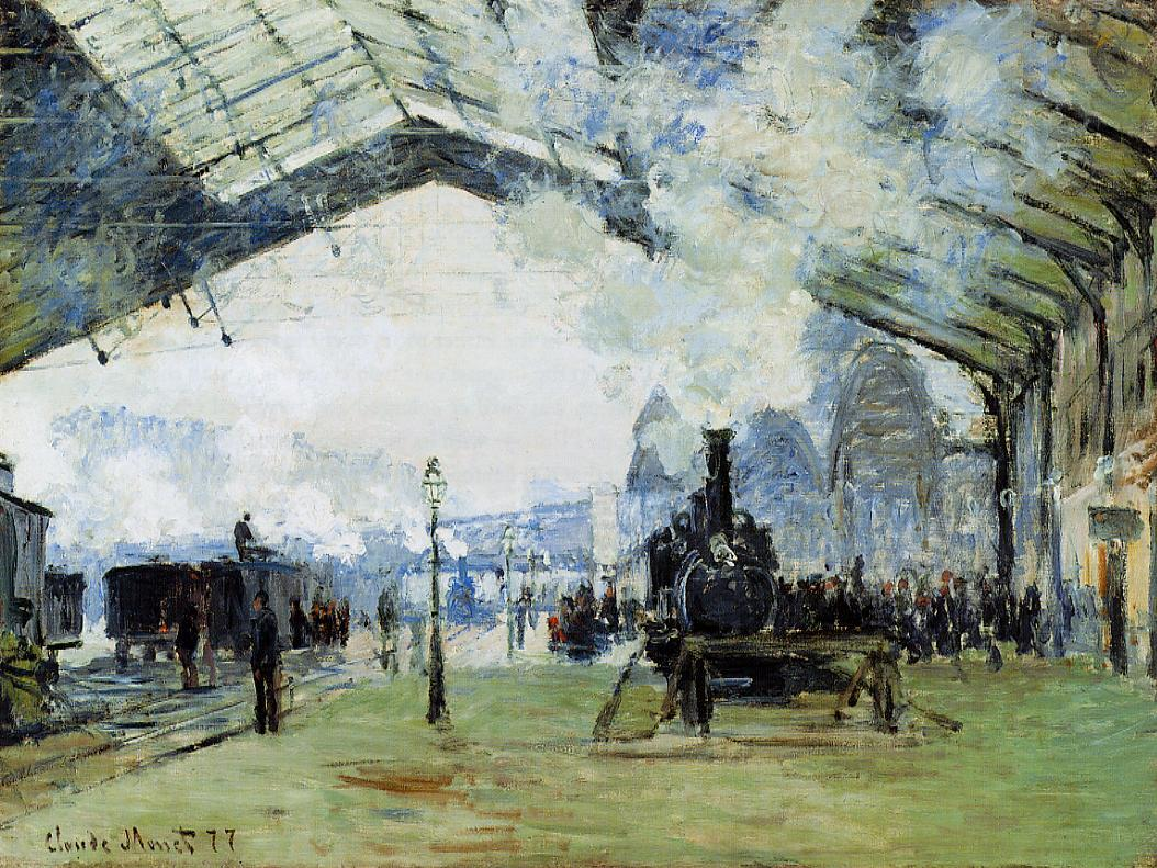 Arrival of the Normandy Train Gare Saint-Lazare 1877 | Claude Monet | Oil Painting