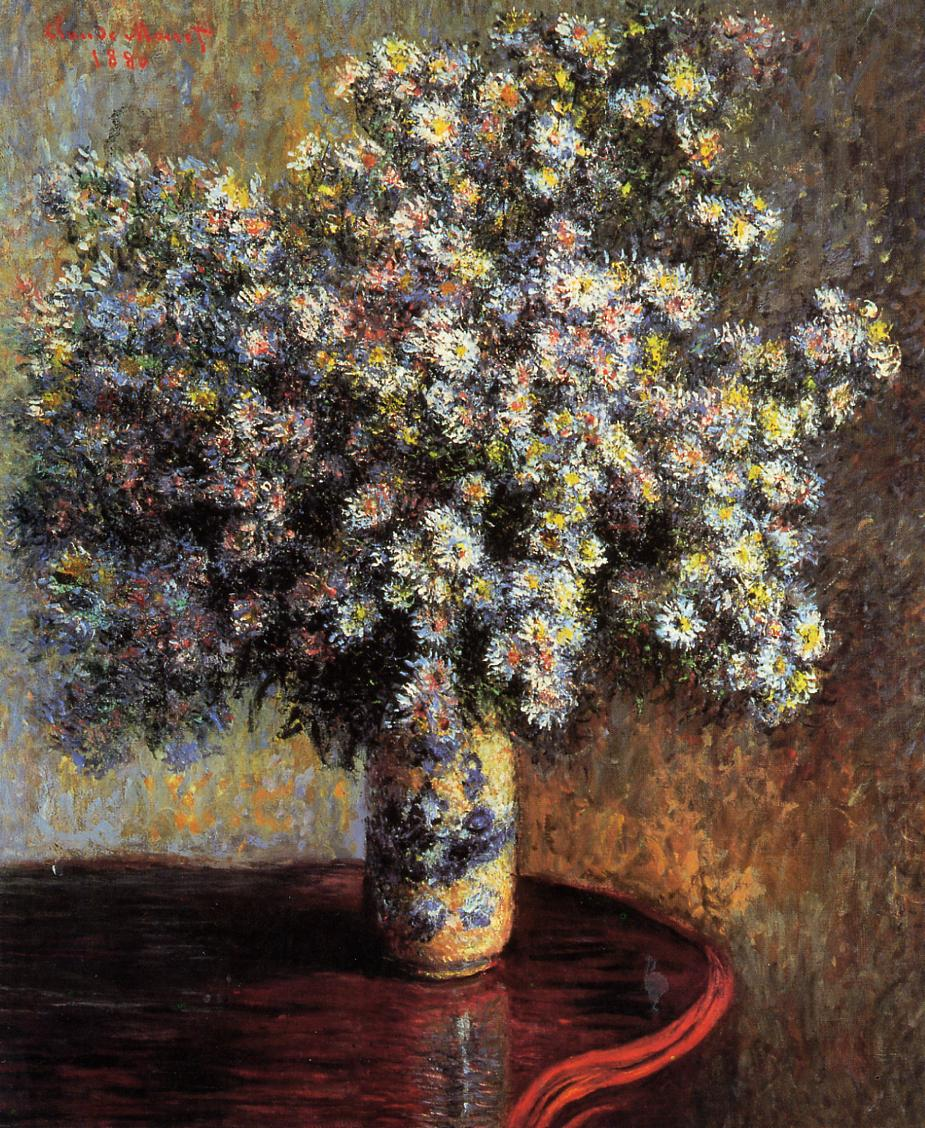 Asters 1880 | Claude Monet | Oil Painting