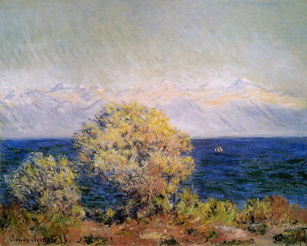 At Cap dAntibes Misgtral Wind 1888 | Claude Monet | Oil Painting